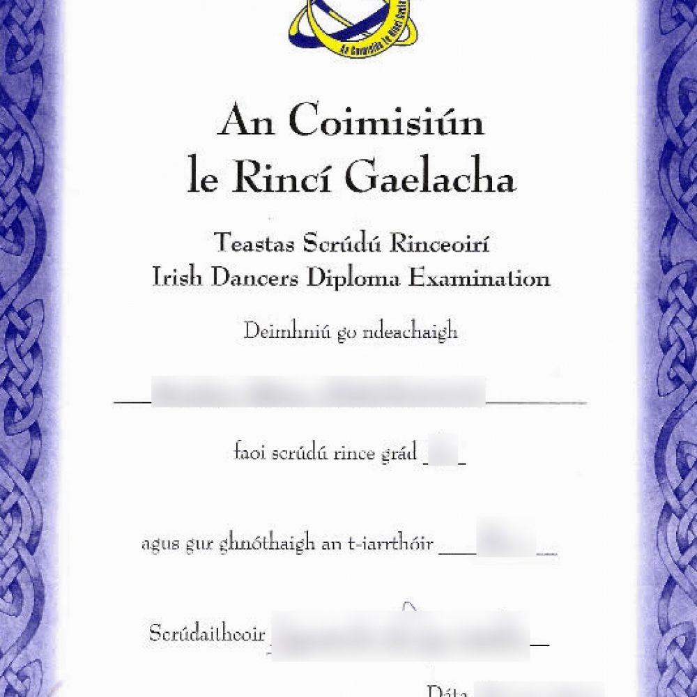 Certificat de grad CLRG
